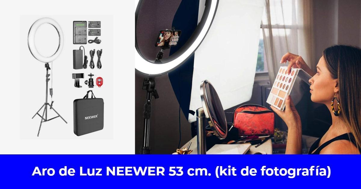 Aro de Luz NEEWER 53 cm. Kit