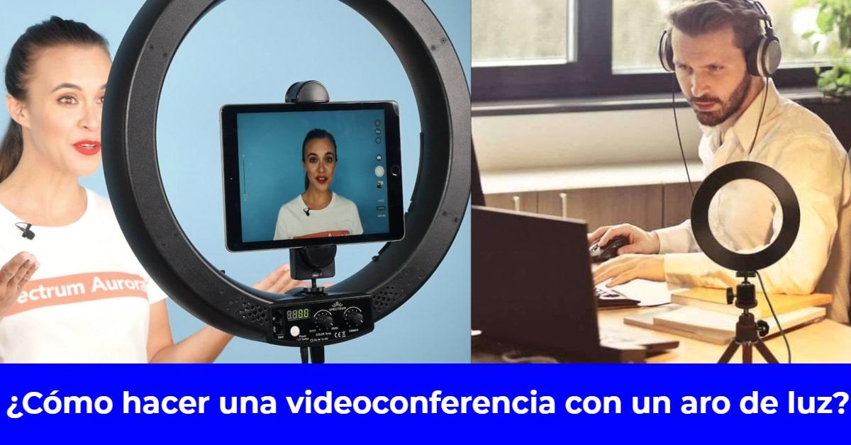 videoconferencia con aro de luz