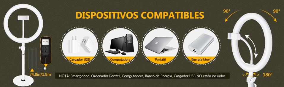 compatibilidad aro de luz neewer